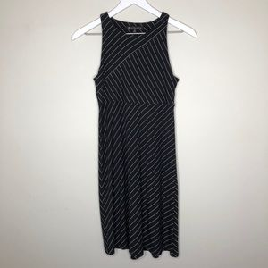 Athleta Santorini Black and White Striped dress XS